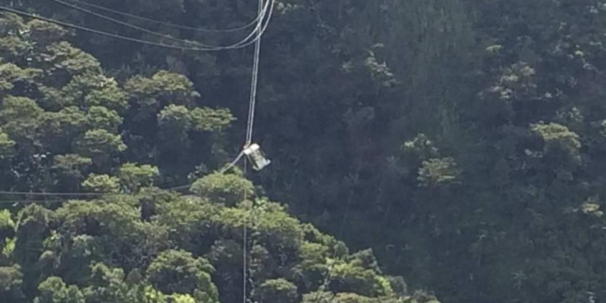 Emergencia por cable aéreo turístico que se reventó en Medellín