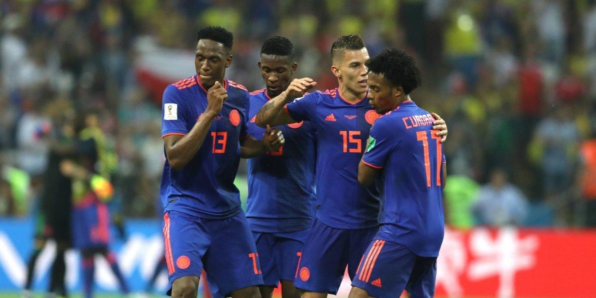 El América celebra el triunfo de Colombia en Rusia 2018