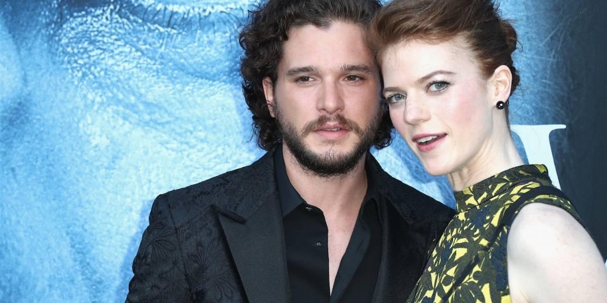 """Fanáticos de """"Game of Thrones"""" celebran el casamiento de Kit Harington y Rose Leslie"""