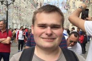 Konstantin Podobuev, Fan de 22 años de Rusia