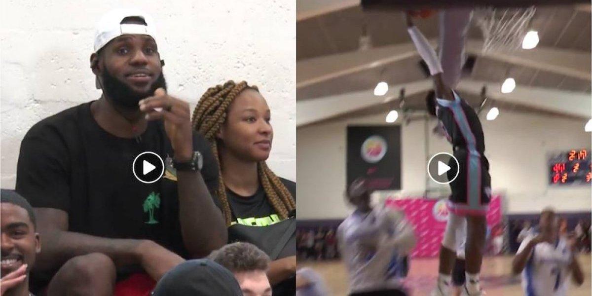 Hijo de LeBron James casi consigue una retacada a sus 13 años