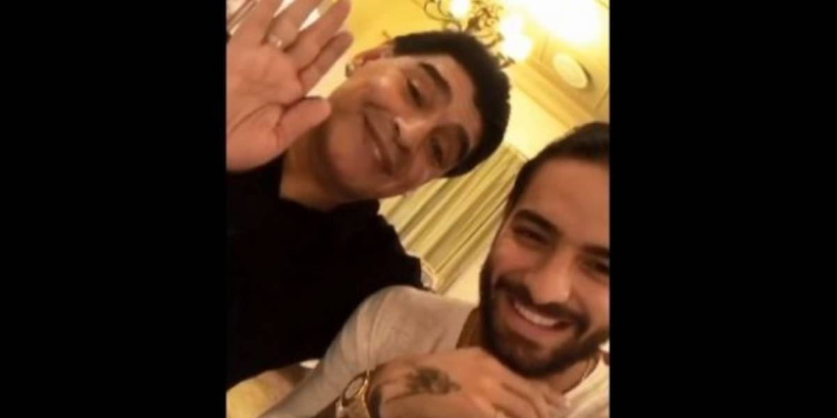 Nació el amor entre Maradona y Maluma