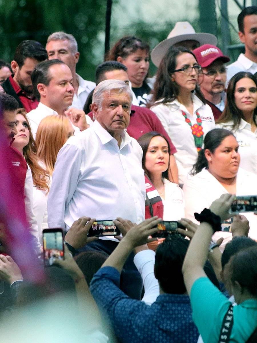 Con López Obrador, Lomelí cierra su campaña en Plaza Juárez