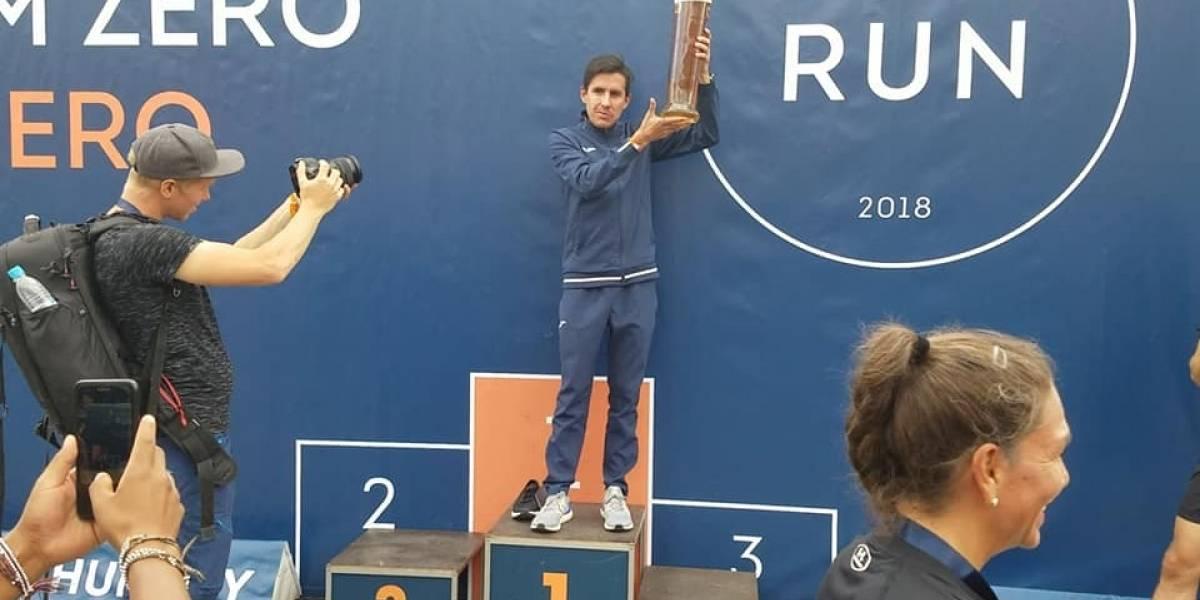 Rivero hace sonar el himno de Guatemala en Medio Maratón SportScheck de Alemania