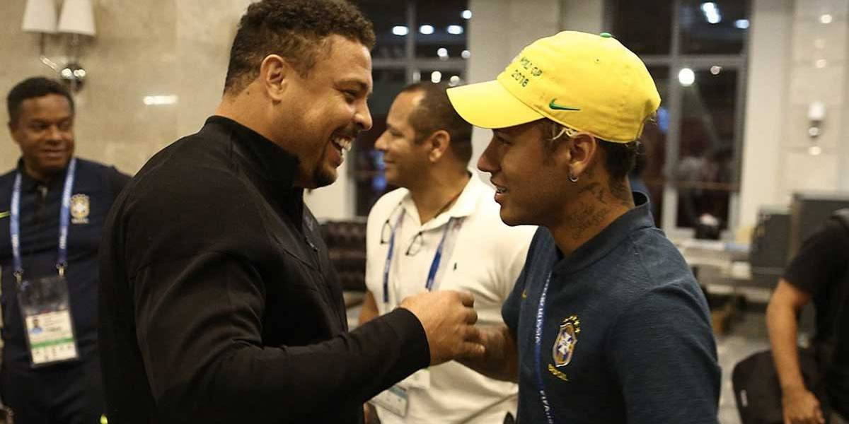 Copa do Mundo: Ronaldo 'adota' Neymar e vira conselheiro do craque