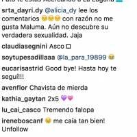 Comentarios hacia Maluma
