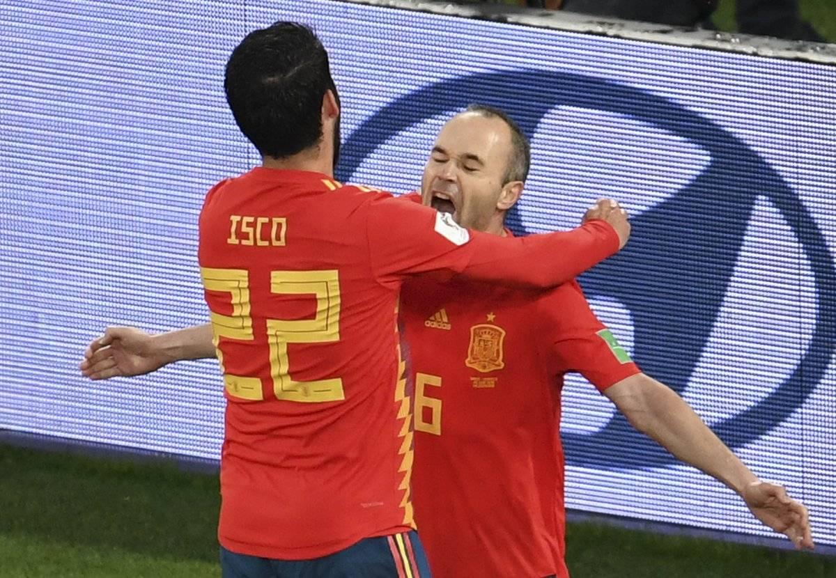 Isco marcó el empate para los españoles