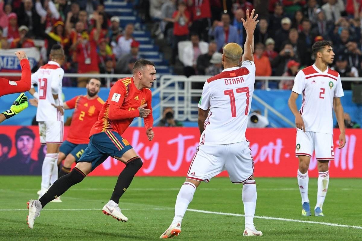 Aspas marcó el empate para España