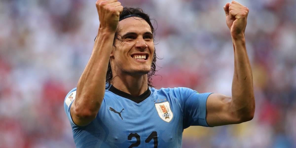 Uruguai vence a Rússia por 3 a 0 e se garante como 1º do grupo A