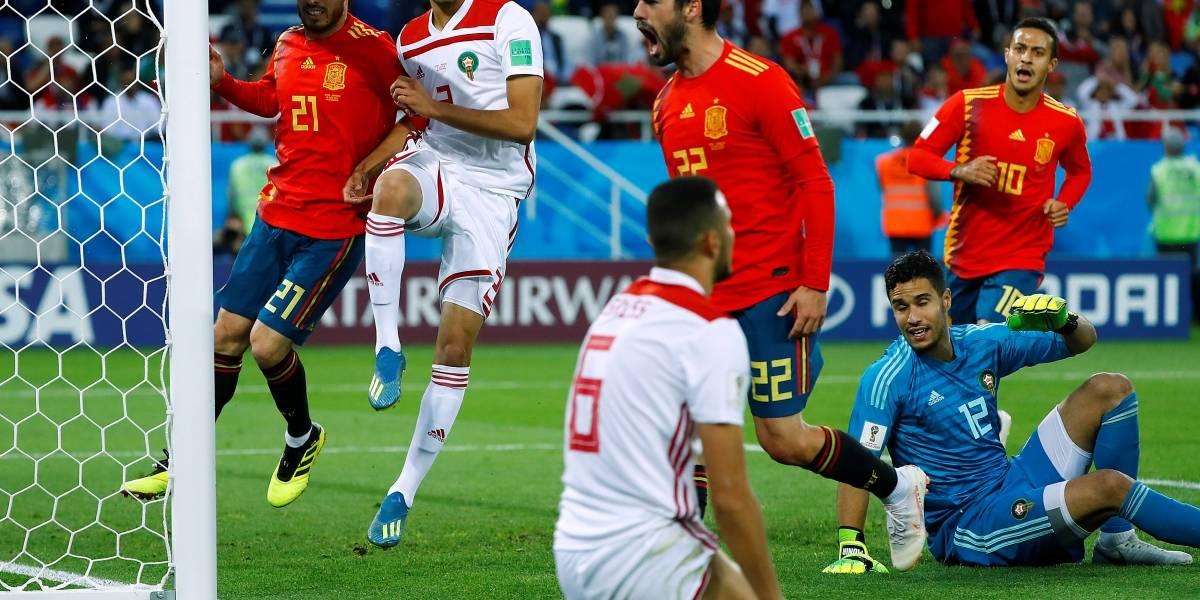 Espanha só empata com Marrocos, mas avança e pegará a Rússia