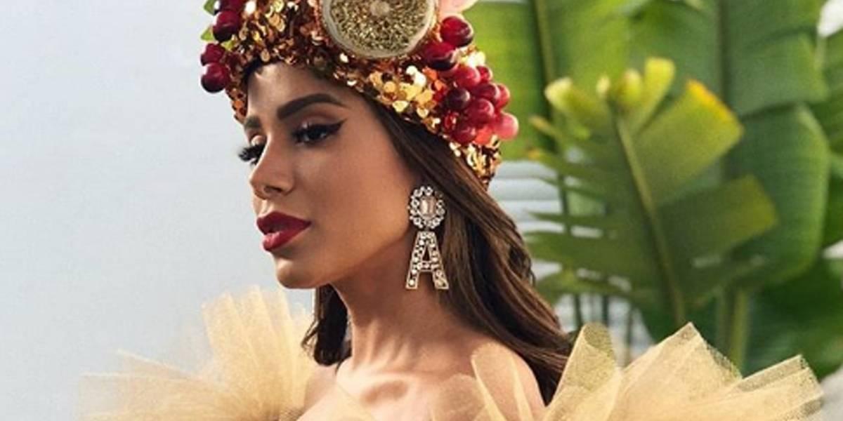 Anitta usa look inspirado em Carmen Miranda no Rock in Rio Lisboa
