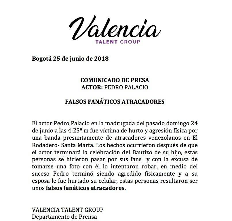 Comunicado de prensa Valencia Talent Group