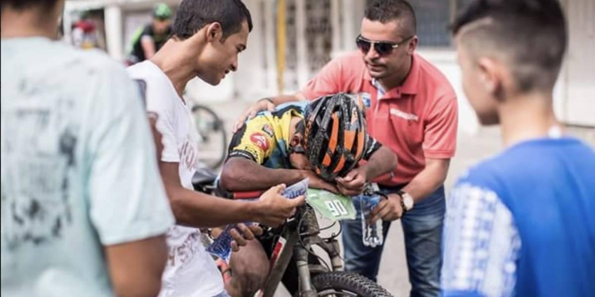 Ciclista Andrés Benavides fue víctima de ladrones en Bogotá