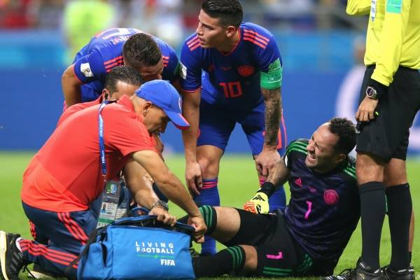 Lesión de David Ospina con la Selección Colombia