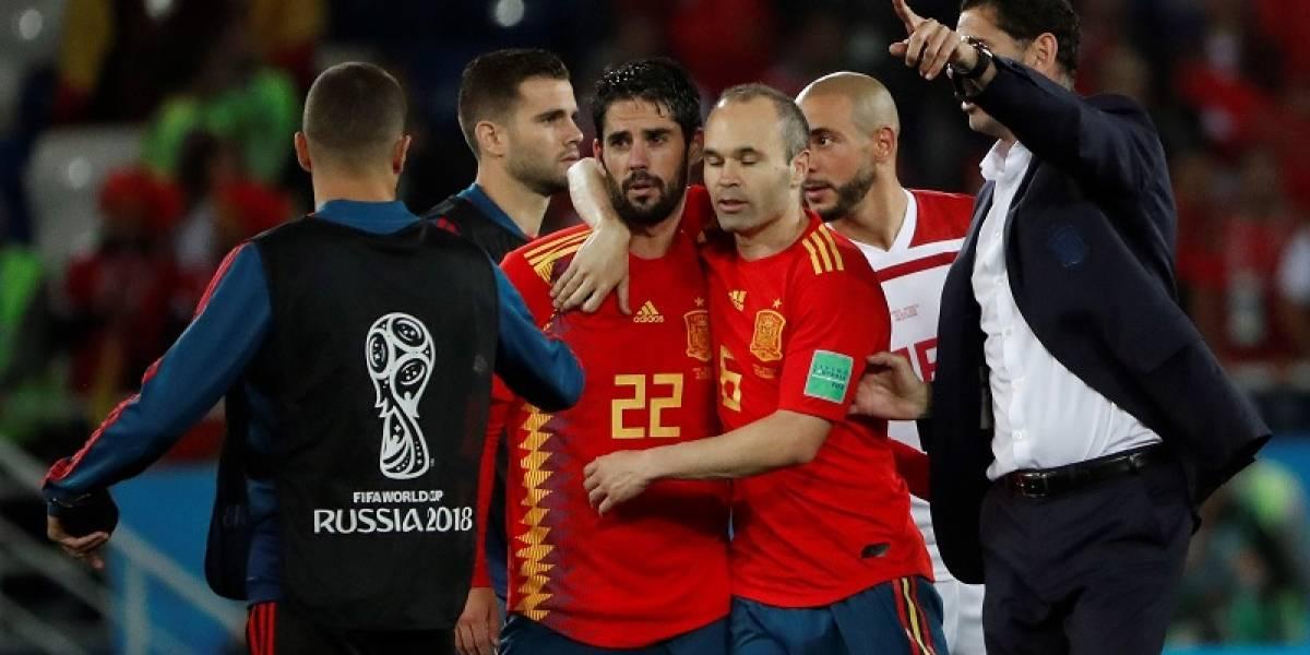 España se puso roja