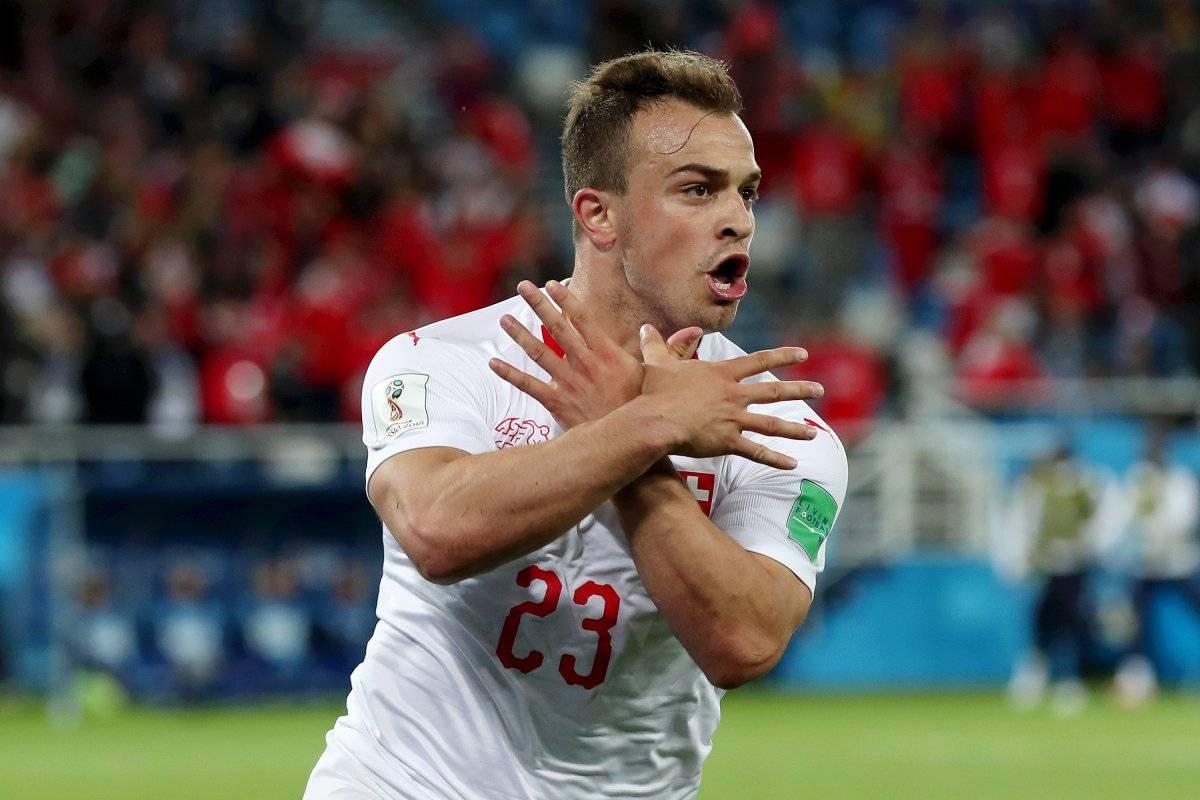 Shaqiri celebró con todo su gol frente a Serbia / imagen: Getty Images