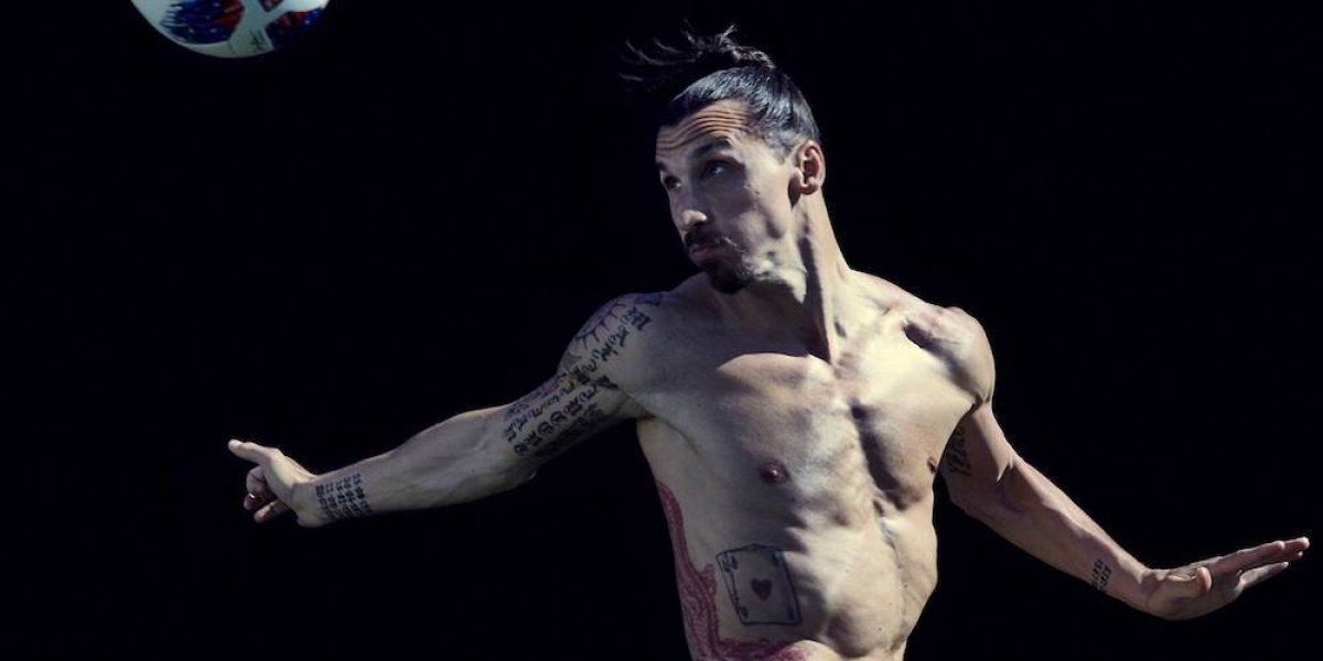 Zlatan Ibrahimovic posa desnudo para ESPN