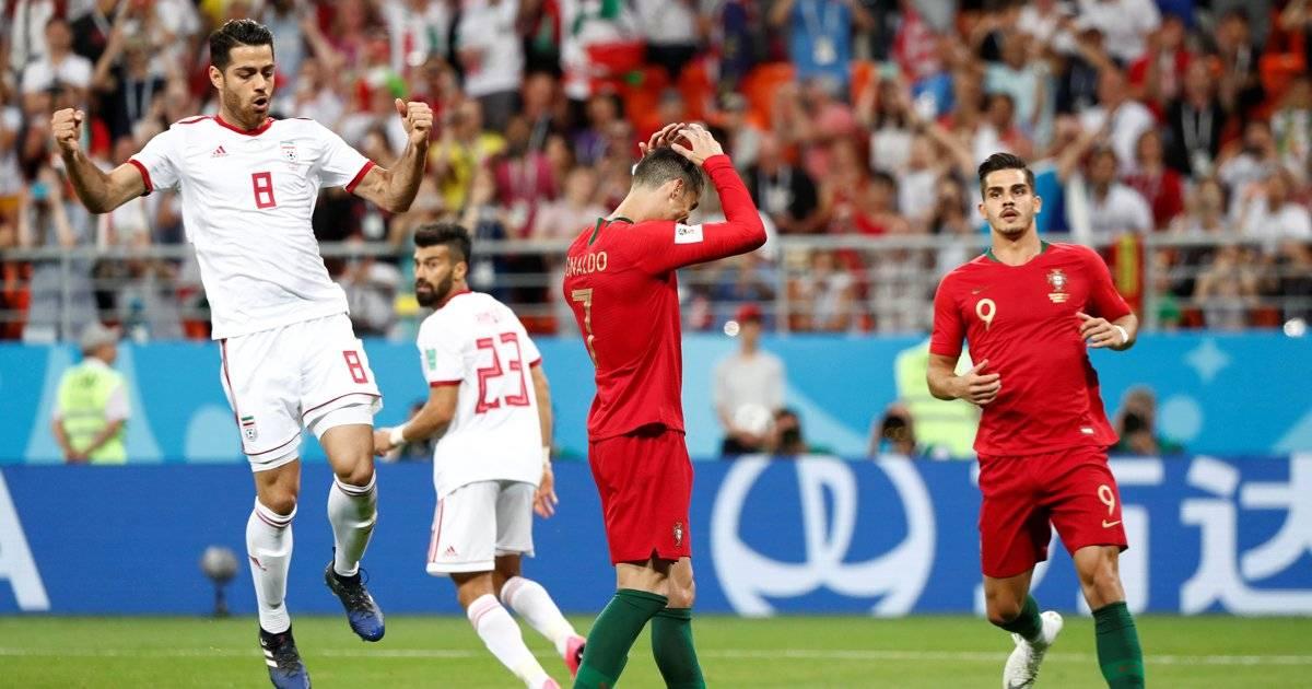Cristiano Ronaldo após errar o pênalti contra o Irã Murad Sezer/Reuters