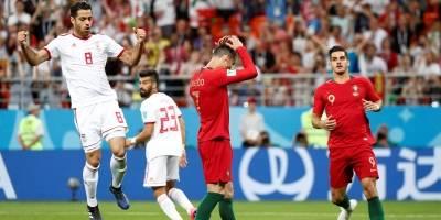 Cristiano Ronaldo após errar o pênalti contra o Irã