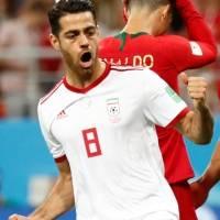 Irã comemora erro de pênalti cobrado por Portugal