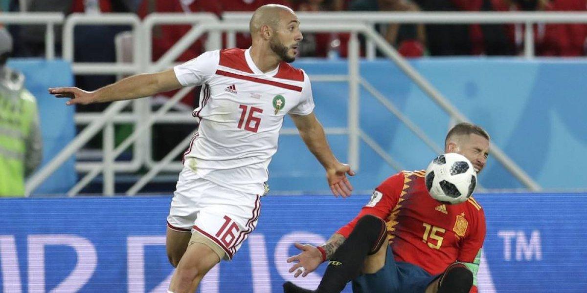 Jugador marroquí explotó y dijo que el VAR es una mierda