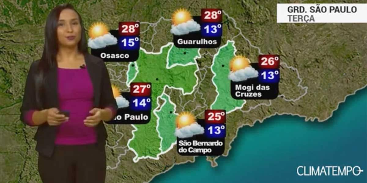Veja previsão do tempo para Grande São Paulo nesta terça-feira