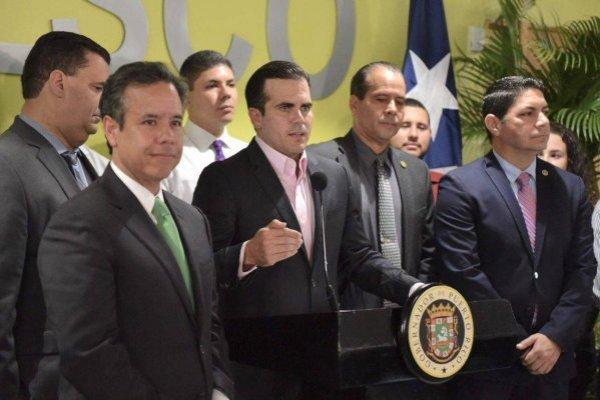 Ricardo Rosselló contestó las expresiones de Thomas Rivera Schatz hoy en una conferencia de prensa. Suministrada