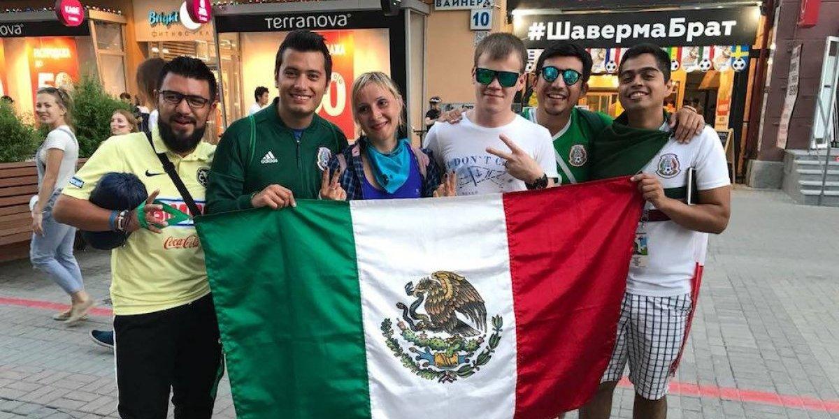 Aficionados mexicanos ya toman las calles de Ekaterimburgo