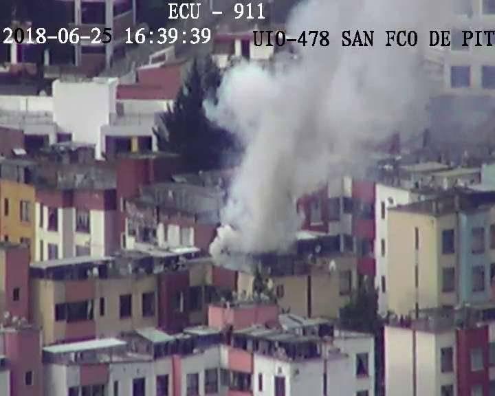 Conato de incendio estructural, en el sector de La Luz ECU 911