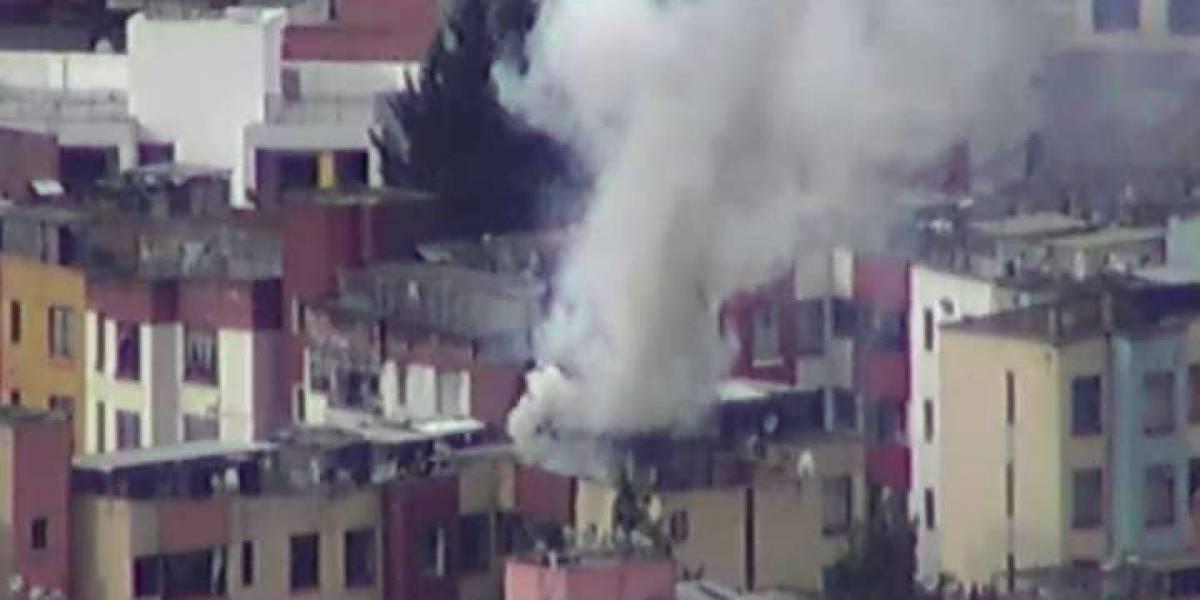 Quito: Conato de incendio estructural en el sector de La Luz