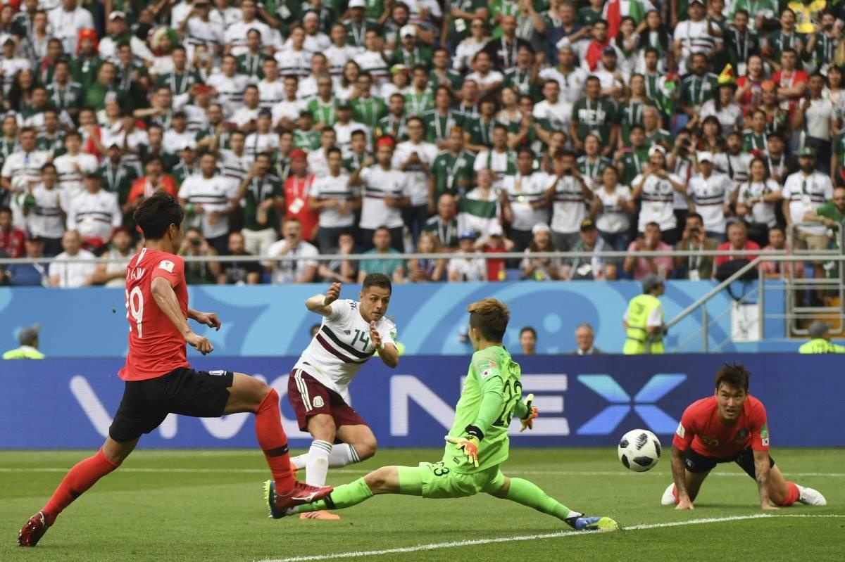 Hernández marcó el segundo gol de México ante Corea
