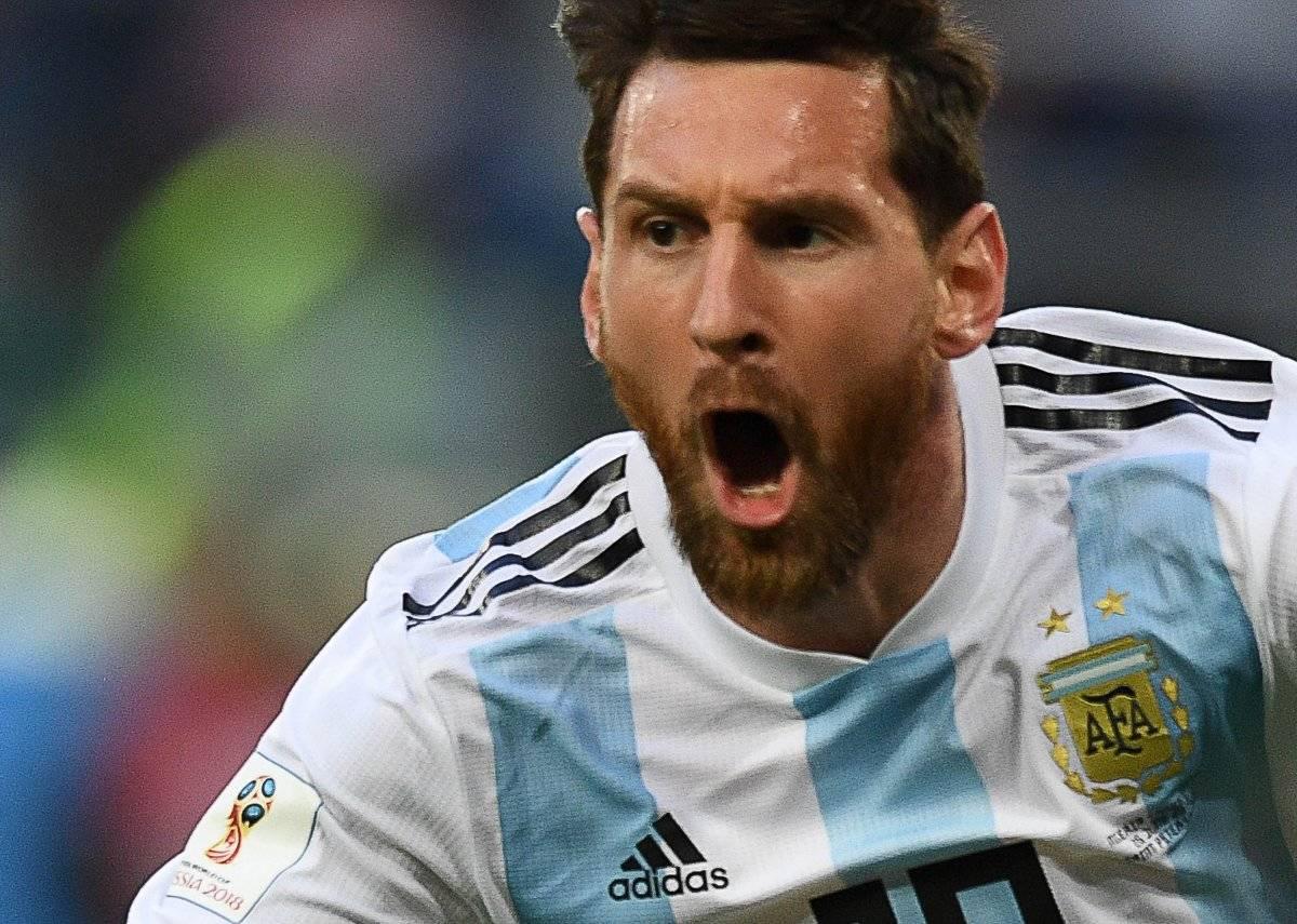 Messi festeja con euforia