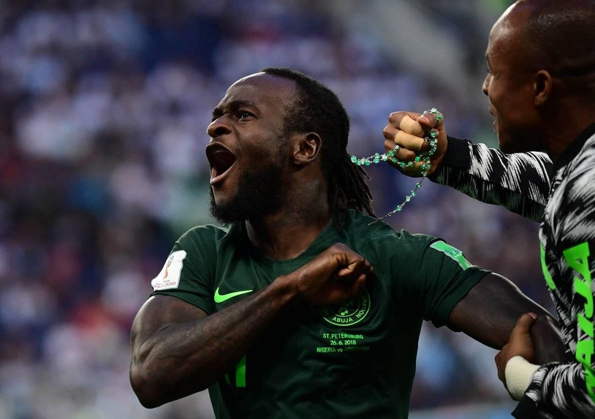 Moses festejó el empate de Nigeria