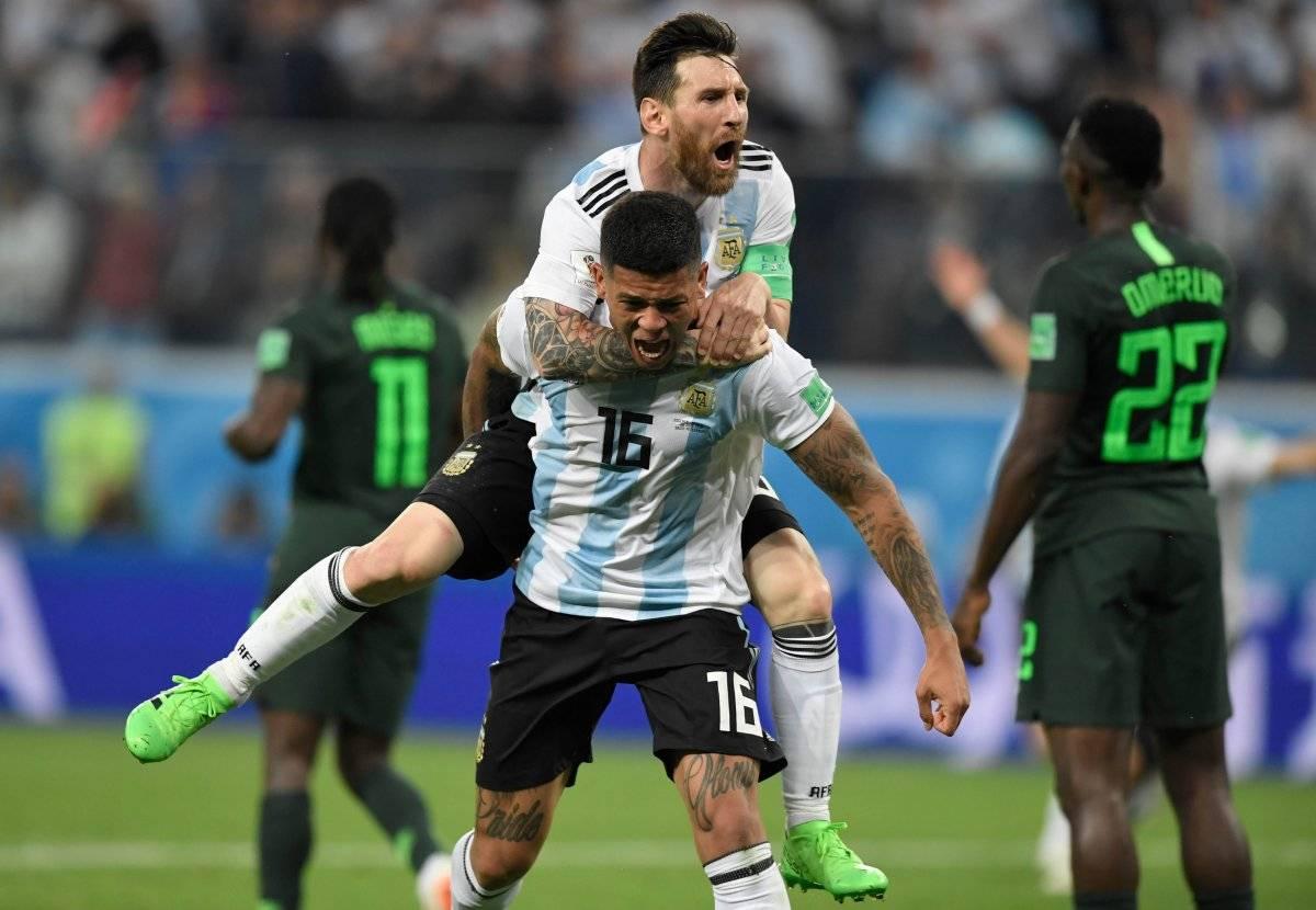 Messi y Rojo le dieron el triunfo a Argentina