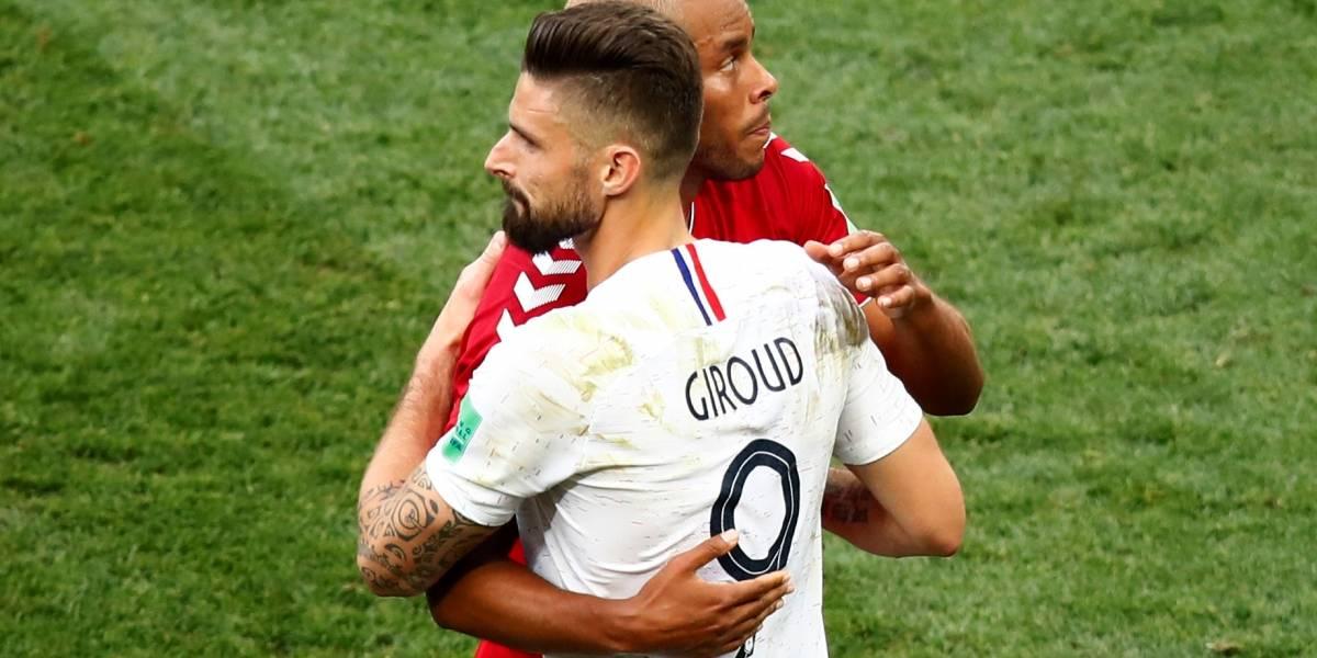 França e Dinamarca protagonizam primeiro empate sem gols da Copa