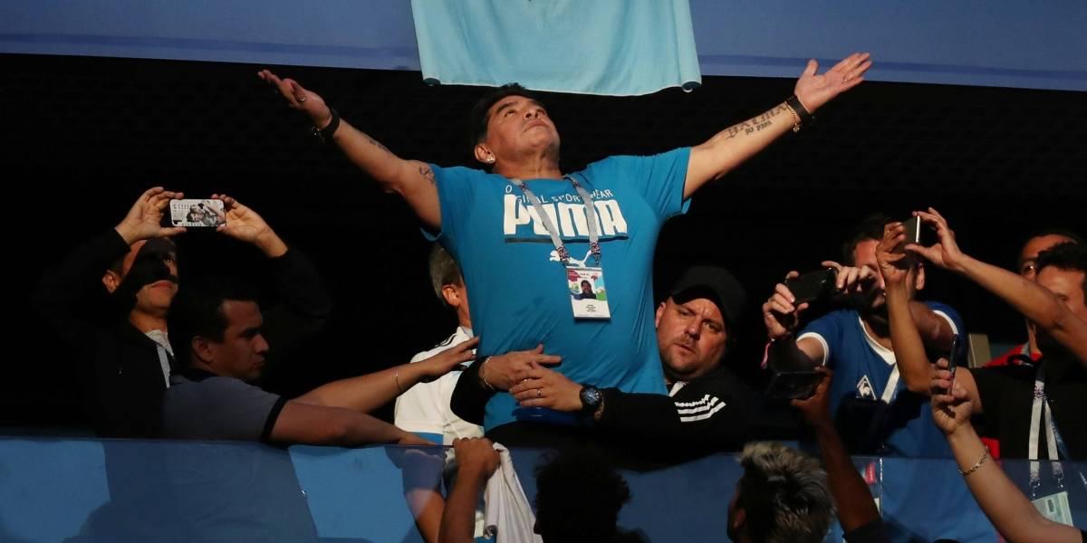 Maradona reage de forma impressionante a gol de Messi; veja vídeo