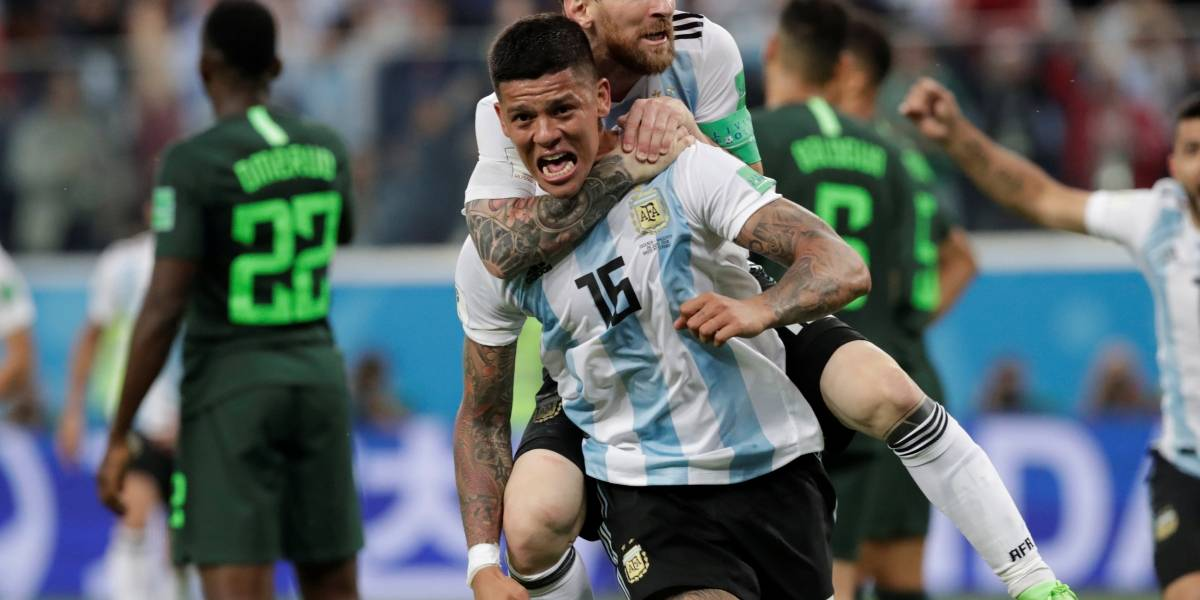 Em jogo dramático, Argentina vence a Nigéria e se classifica para as oitavas