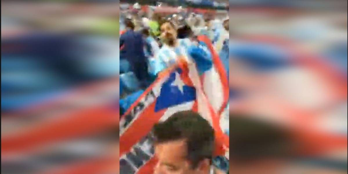 Celebran victoria argentina con bandera puertorriqueña