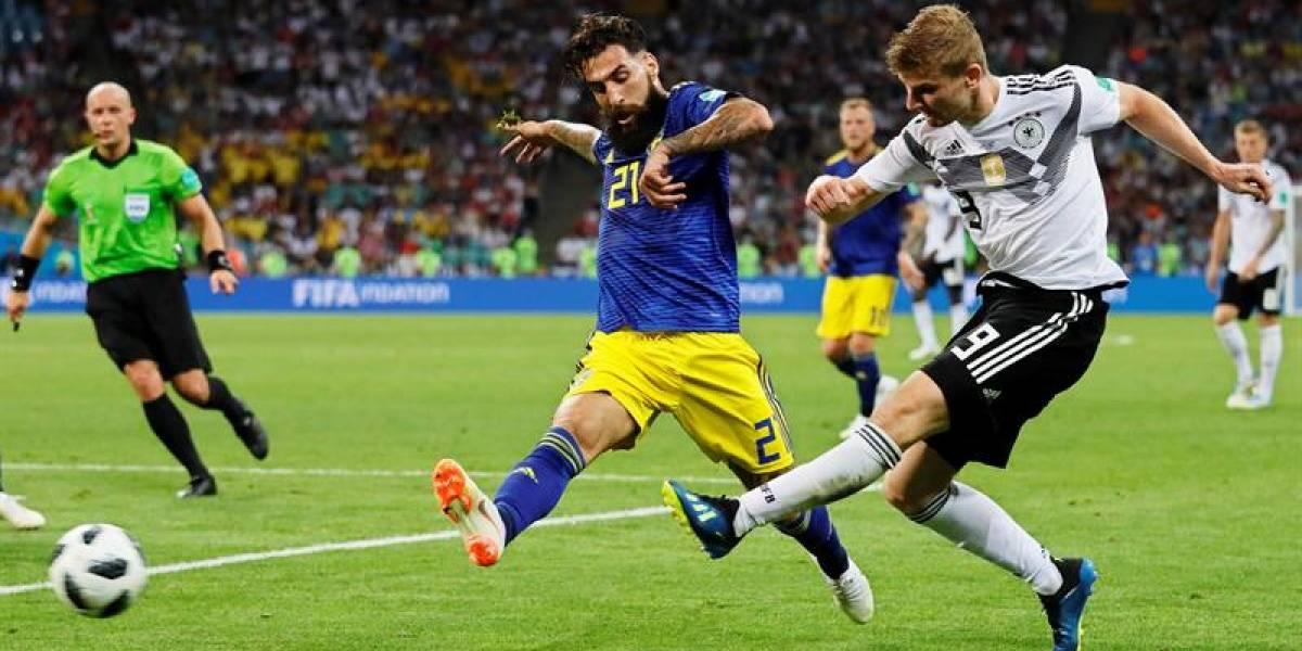 Jugador sueco fue insultado por sus hinchas después del partido contra Alemania