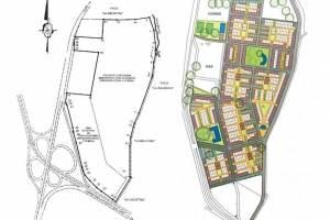 Los planos de las viviendas y la urbanización
