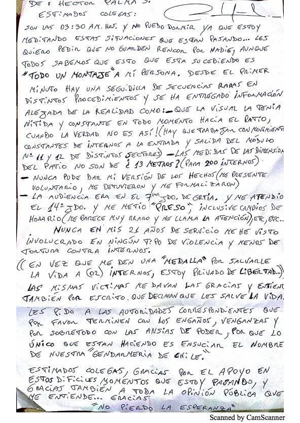 La dura carta del gendarme acusado de no intervenir en la tortura a ecuatorianos