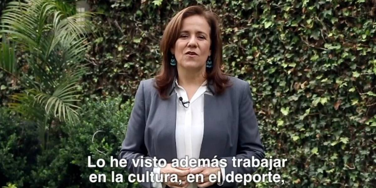 Zavala muestra nuevamente apoyo al PAN; esta vez a Santiago Taboada