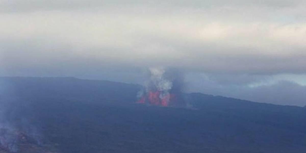 Autoridades elevan a nivel de Alerta Naranja el área de influencia del volcán Sierra Negra