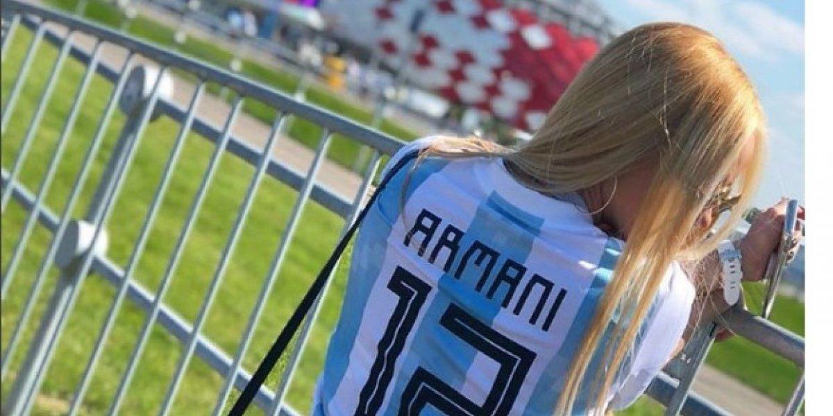 El mensaje de la colombiana esposa de Armani que emocionó a toda Argentina