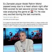Comentarista egipcio falleció este lunes
