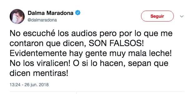 Dalma Maradona Twitter