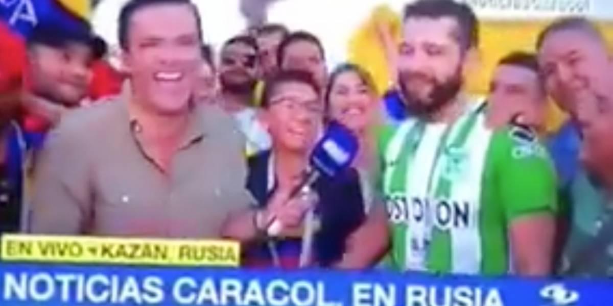 La burla de Juan Diego Alvira a un hincha de Atlético Nacional
