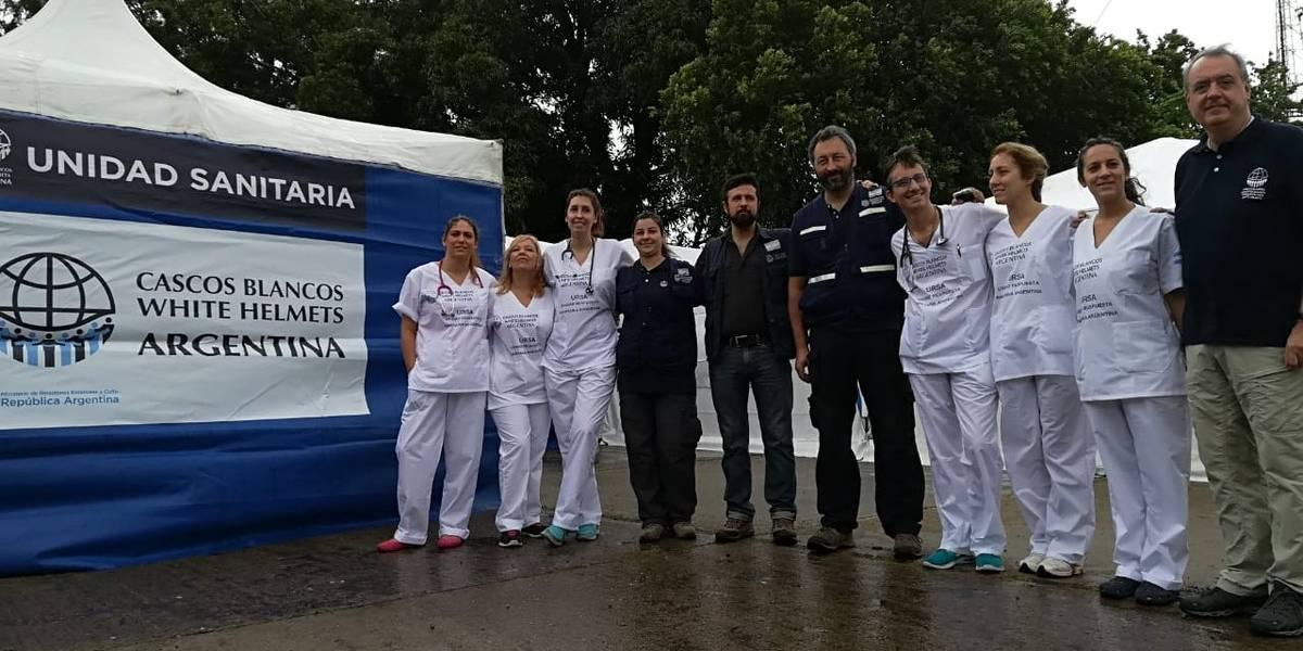Cascos blancos de Argentina llegan a Cúcuta para atender a venezolanos