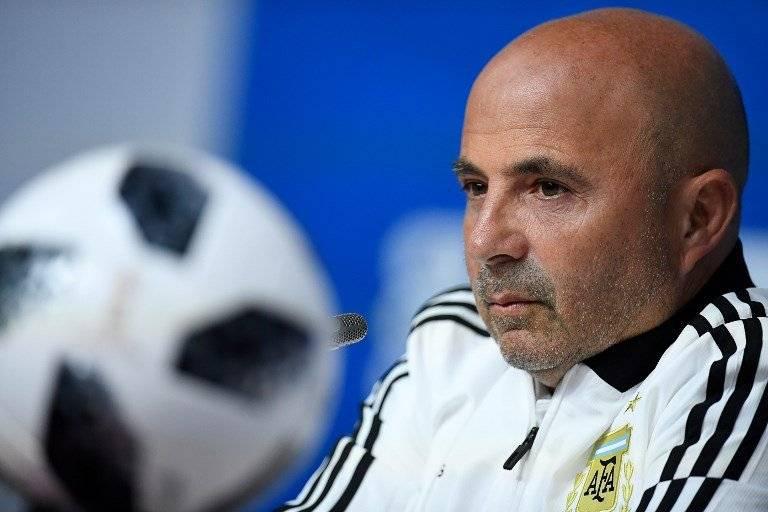 Jorge Sampaoli, entrenador de Argentina
