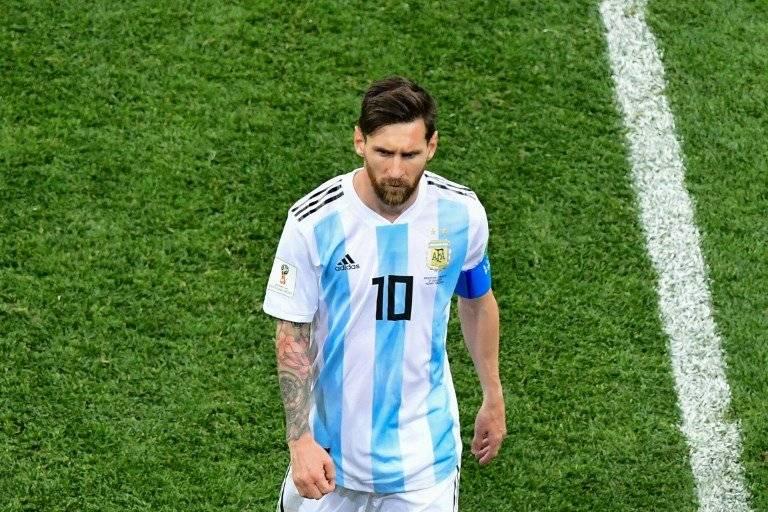 Lionel Messi contra Croacia en el Mundial 2018